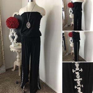 🌺INC  Fabulous Black Strapless Jumpsuit
